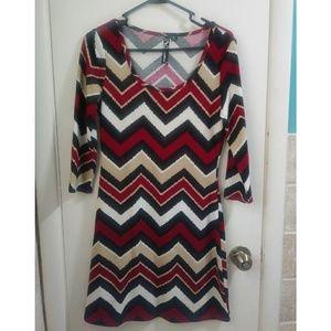 Long-sleeved, cotton dress